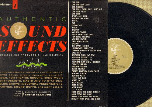 Sound Effects - Authentic Sound Effects Vol. 1 - Comprehensive library of the most sought after sound effects, brilliantly recorded! (vinyl LP record) - NM9/NM9 - LP Records