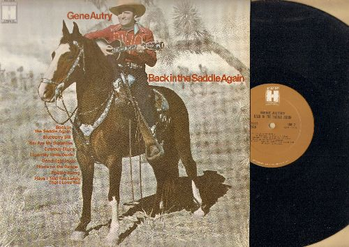 Autry, Gene - Back In The Saddle Again: Blueberry Hill, You Are My Sunshine, Goodnight Irene (Vinyl STEREO LP record, 1970s issue of vintage recordings) - NM9/NM9 - LP Records