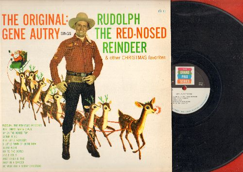 Autry, Gene - The Original Rudolph The Red-Nosed Reindeer & Other Christmas Favorites: We Wish You A Merry Christmas, Sleigh Bells, Here Comes Santa Claus (vinyl LP record) - VG7/EX8 - LP Records