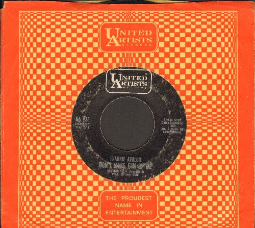 Avalon, Frankie - Don't Make Fun Of Me/Again (with United Artists company sleeve) - VG7/ - 45 rpm Records