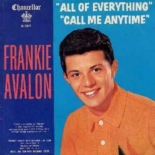 Avalon, Frankie - All Of Everything/Call Me Anytime (with picture sleeve) - NM9/EX8 - 45 rpm Records