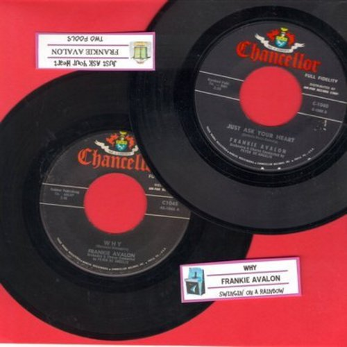 Avalon, Frankie - 2 for 1 Special: Just Ask Your Heart/Why (2 vintage first issue 45rpm records for the price of 1!) - EX8/ - 45 rpm Records