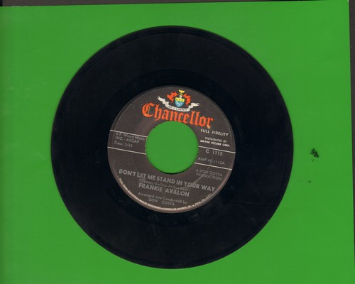 Avalon, Frankie - Don't Let Love Pass Me By/Togetherness (with juke box label) - NM9/ - 45 rpm Records