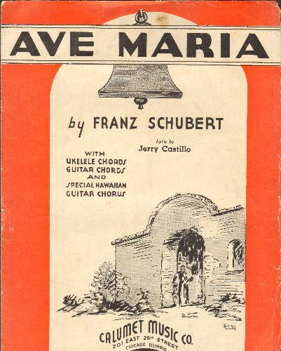 Schubert, Franz - Ave Maria - Vintage 1935 SHEET MUSIC for the Classic by Franz Schubert - VG6/ - Sheet Music