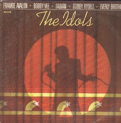 Dinning, Mark, Everly Brothers, Tab Hunter, Bobby Vee, others - The Idols: Teen Angel, Why, Run To Him, Just A Dream, Wild One, Young Love (Vinyl STEREO LP record, 1981 issue of vintage recordings) - NM9/EX8 - LP Records