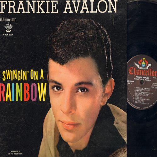 Avalon, Frankie - Swingin' On A Rainbow: Secret Love, Sandy, Them There Eyes, Try A Little Tenderness (Vinyl LP record, gate-fold cover, no poster!) - EX8/VG7 - LP Records