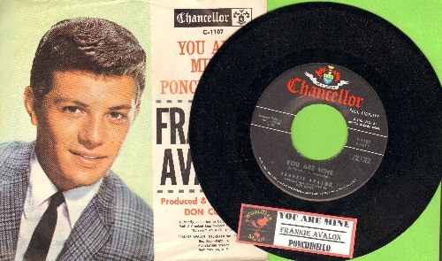 Avalon, Frankie - You Are Mine/Ponchinello (with picture sleeve) - NM9/NM9 - 45 rpm Records