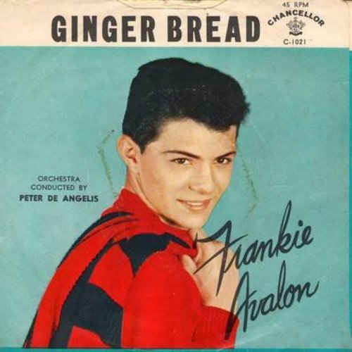 Avalon, Frankie - Ginger Bread/Blue Betty (with picture sleeve) - NM9/VG7 - 45 rpm Records