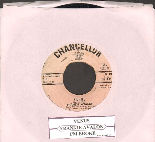 Avalon, Frankie - Venus/I'm Broke (with juke box label) - VG7/ - 45 rpm Records