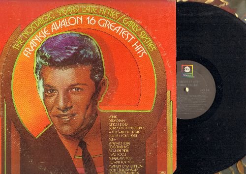 Avalon, Frankie - 16 Greatest Hits: Venus, Ginger Bread, I'll Wait For You, Dede Dinah, Just Ask Your Heart, Why? (Vinyl STEREO LP record, re-issue of vintage recordings) - NM9/VG6 - LP Records