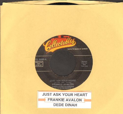 Avalon, Frankie - Just Ask Your Heart/Dede Dinah (double-hit re-issue with juke box label) - EX8/ - 45 rpm Records