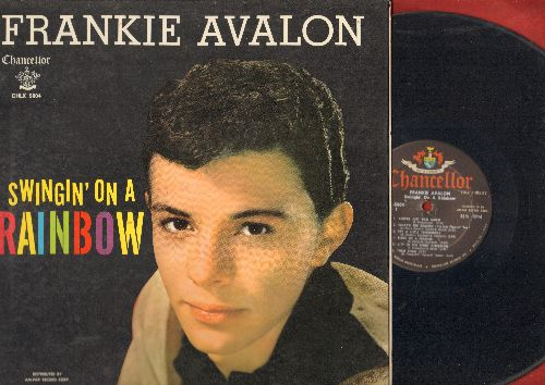 Avalon, Frankie - Swingin' On A Rainbow: Secret Love, Sandy, Them There Eyes, Try A Little Tenderness (Vinyl LP record, gate-fold cover, no poster!) - VG6/EX8 - LP Records