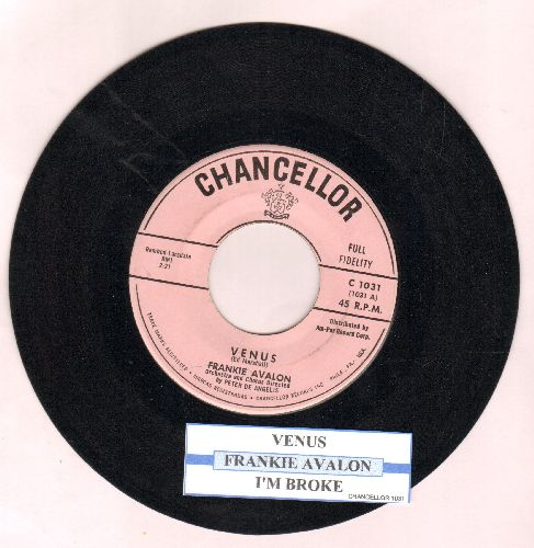Avalon, Frankie - Venus/I'm Broke (with juke box label) - EX8/ - 45 rpm Records