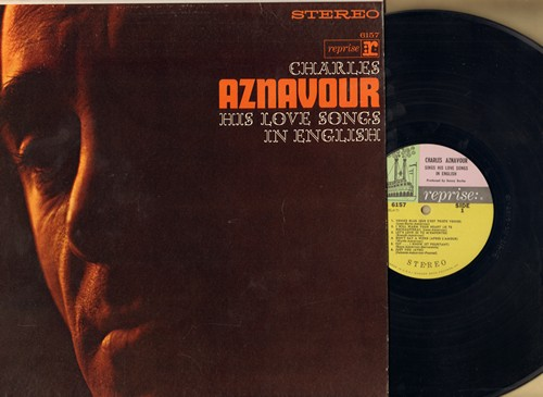 Aznavour, Charles - His Love Songs In English: Let's Love, Just You, Little Train, Stay, There Is A Time (vinyl STEREO LP record) - EX8/NM9 - LP Records