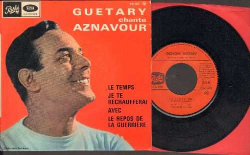 Guetary, Georges - Le Temps/Avec/Je Te Rechaufferai/Le Repos De La Guerriere (vinyl EP record with picture cover, French Pressing, sung in French) - EX8/EX8 - 45 rpm Records