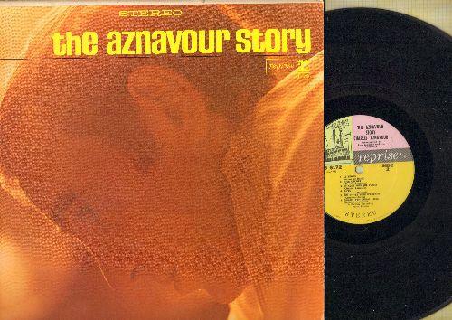Aznavour, Charles - The Aznavour Story: Que C'est Triste Venise, Le Jour Se Leve, Le Temps, Tu T'amuses (Vinyl STEREO LP record, US Pressing, sung in French) - VG6/EX8 - LP Records