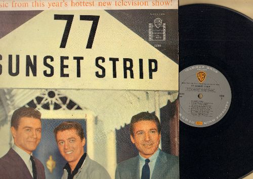 Barker, Warren - 77 Sunset Strip: Music From This Year's Hottest Televison Show! (Vinyl MONO LP record) - EX8/EX8 - LP Records