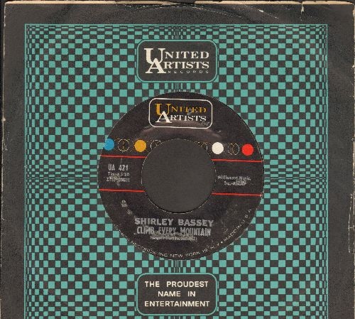 Bassey, Shirley - Climb Every Mountain/Where Are You (with United Artists company sleeve) - VG7/ - 45 rpm Records