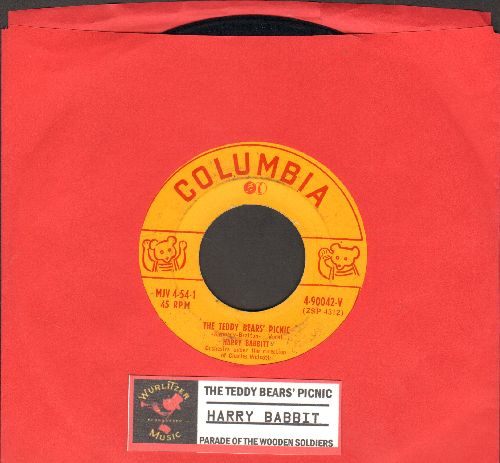 Babbitt, Harry - The Teddy Bears' Picnic/Parade Of The Wooden Soldiers (RARE Novelty Record with juke box label) - VG6/ - 45 rpm Records