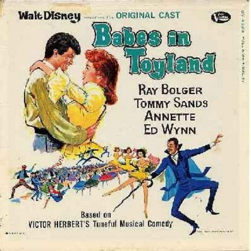 Annette, Tommy Sands, Ray Bolger, Ed Wynn - Babes In Toyland - Original Motion Picture Sound Track featuring 16 tracks from the Walt Disney Film. (Vinyl LP record) - VG6/G5 - LP Records