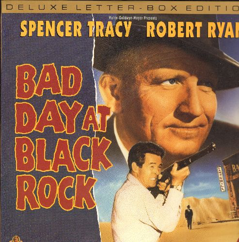 Bad Day At Black Rock - Bad Day At Black Rock LASER DISC Starring Spencer Tracy (Letterbox) - NM9/EX8 - Laser Discs