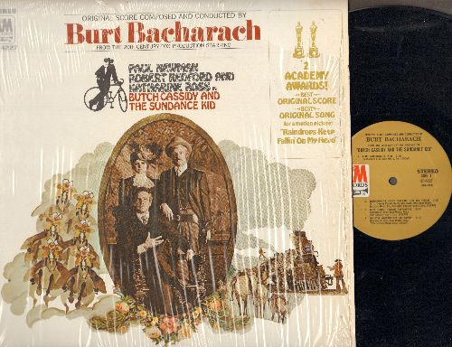 Bacharach, Burt - Butch Casisdy & The Sundance Kid - Original Motion Picture Soundtrack, includes Academy Award Winning Song -Raindrops Keep Falling On My Head- by B. J. Thomas (vinyl STEREO LP record, shrink wrap) - NM9/NM9 - LP Records