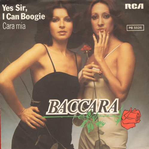 Baccara - Yes Sir, I Can Boogie/Cara Mia (German Pressing with picture sleeve) - NM9/EX8 - 45 rpm Records