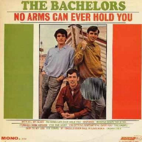 Bachelors - No Arms Can Ever Hold You:  Pennies From Heaven, Far Far Away, Skip To My Lou, I Adore Her, With All My Heart (vinyl MONO LP record, soc) - M10/EX8 - LP Records