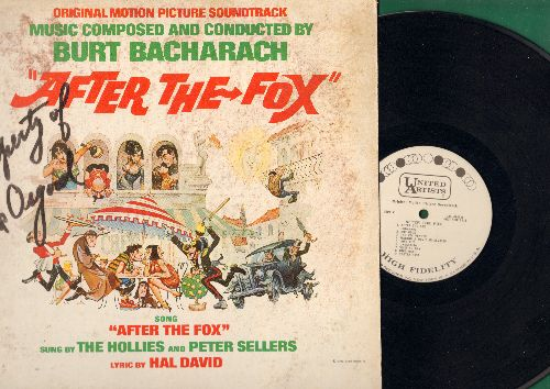 After The Fox - After The Fox - Original Motion Picture Sound Track, music composed and conducted by Burt Bacharach (Vinyl MONO LP record, DJ advance pressing) (woc) - NM9/VG7 - LP Records
