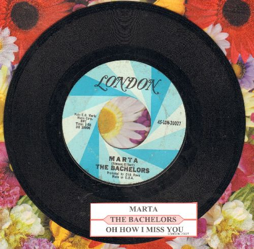 Bachelors - Marta/Oh How I Miss You (with juke box label) - NM9/ - 45 rpm Records