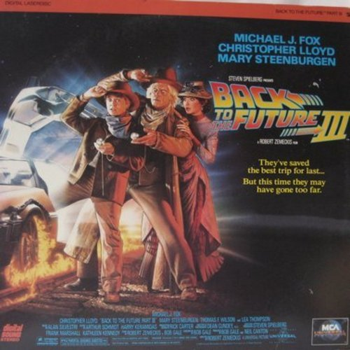 Back To The Future III - Back To The Future III - Third installment of the Adventure Trilogy starring Michael J. Fox on 2 LASERDISCs (This is a set of LASERDISCS, not any other kind of media!) - NM9/NM9 - LaserDiscs