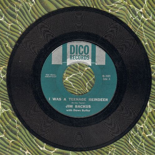 Backus, Jim - I Was A Teenage Reindeer/The Office Party (RARE Novelty 2-sider) - VG7/ - 45 rpm Records