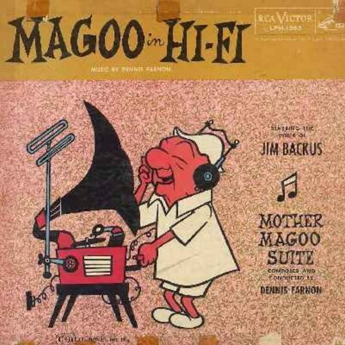 Backus, Jim - Magoo in Hi-Fi - Starring the Voice of Jim Backus - Mother Magoo Suite composed and conducted by Dennis Farnon (vinyl MONO LP record) - VG6/G5 - LP Records