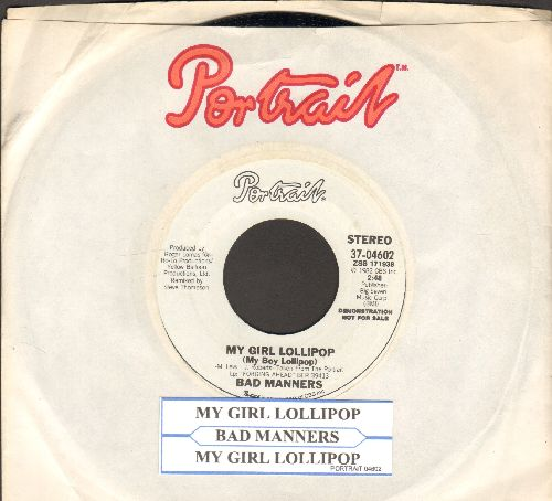 Bad Manners - My Girl Lollipop (FANTASTIC 1982 Updated Version of the Blue-Beat Hit -My Boy Lollipop-) (double-A-sided DJ advance copy with juke box label)) - NM9/ - 45 rpm Records