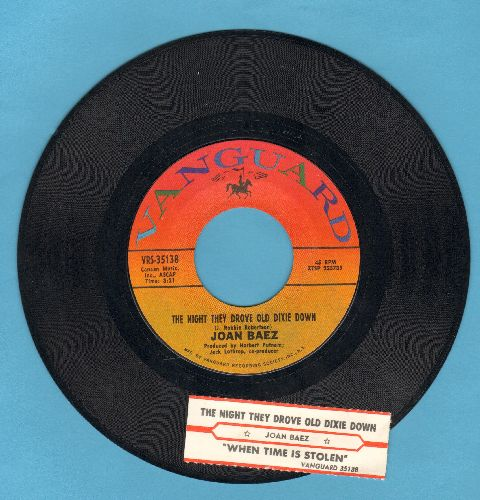 Baez, Joan - The Night They Drove Old Dixie Down (Am Tag als Conny Kramer starb)/When Time Is Stolen (with juke box label) - EX8/ - 45 rpm Records