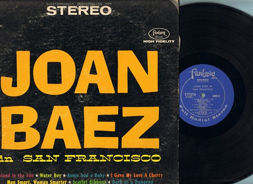 Baez, Joan - Joan Baez In San Francisco: Island In The Sun, La Bamba, I Gave My Love A Cherry, Scarlet Ribbons (Vinyl STEREO LP record) - EX8/VG6 - LP Records