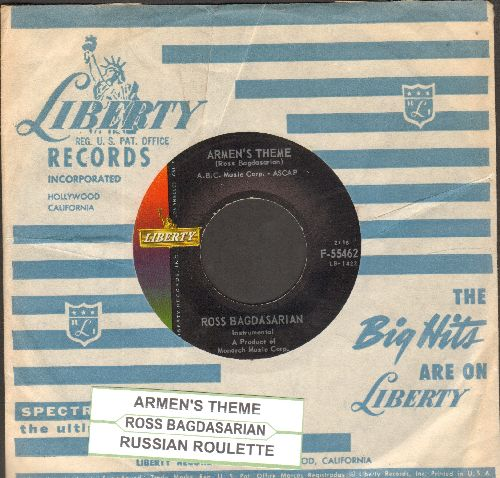Bagdasarian, Ross - Armen's Theme/Russian Roulette (with RARE vintage Liberty company sleeve and juke box label) - NM9/ - 45 rpm Records