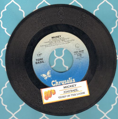 Basil, Toni - Mickey (PARTY FAVORITE!)/Thief On The Loose (with juke box label) - NM9/ - 45 rpm Records