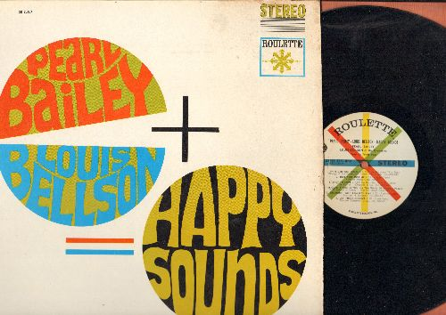 Bailey, Pearl, Louis Bellson & His Orchestra - Happy Sounds: Let There Be Love, When My Sugar Walks Down The Street, People Will Say We're In Love, Sophisticated Lady, I Married An Angel (vinyl STEREO LP record) - EX8/VG7 - LP Records