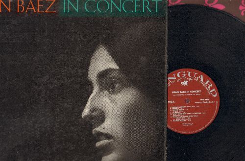 Baez, Joan - Joan Baez In Concert: Babe I'm Gonna Leave You, Black Is The Color, Kumbaya, Copper Kettle (Vinyl STEREO LP record) - EX8/EX8 - LP Records