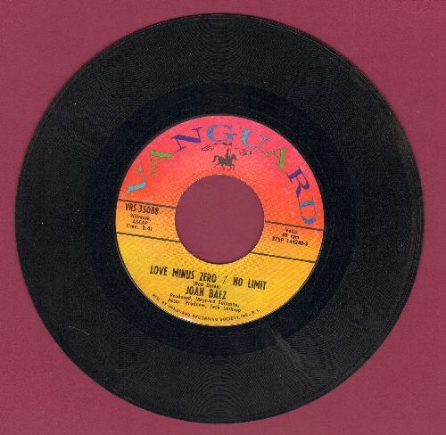 Baez, Joan - Love Minus Zero/No Limit/Love Is Just A Four Letter Word - EX8/ - 45 rpm Records