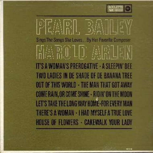 Bailey, Pearl - Pearl Bailey Sings The Songs She Loves…By Her Favorite Composer, Harold Arlen: The Man That Got Away, Come Rain Or Come Shine, Let's Take The Long Way Home, I Had Myself A True Love (Vinyl MONO LP record) - NM9/NM9 - LP Records