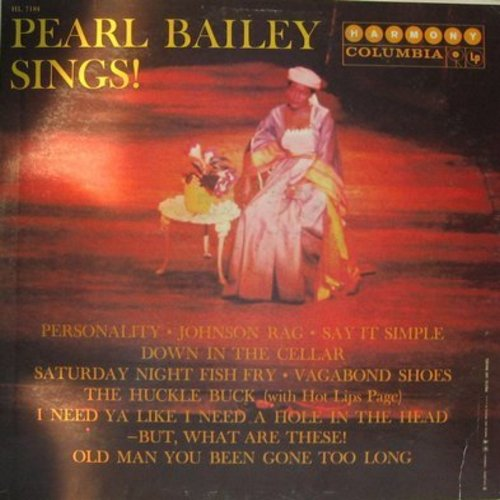Bailey, Pearl - Pearl Bailey Sings: Personality, Saturday Night Fish Fry, The Huckle Buck, Johnson Rag (Vinyl MONO LP record) - NM9/EX8 - LP Records
