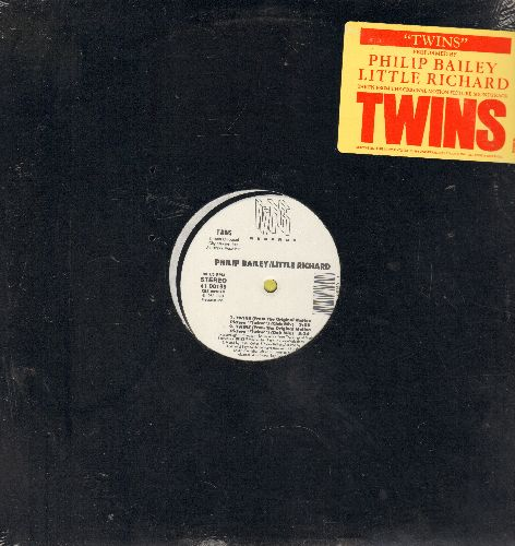 Bailey, Philip & Little Richard - Twins (3:58 minutes Club Mix)/Twins (5:24 Dub Mix)/Twins (5:54 Extended Mix)/Twins (3:58 Acapella) (12 inch vinyl Maxi Single, SEALED, never opened, upper righ corner cut out) - SEALED/SEALED - Maxi Singles