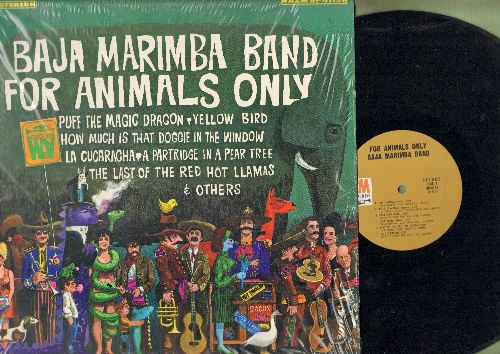 Baja Marimba Band - For Animals Only: Puff The Magic Dragon, Yellow Bird, How Much Is That Doggie In The Window (Vinyl STEREO LP record) - NM9/NM9 - LP Records
