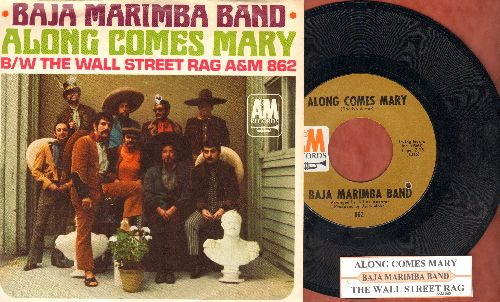 Baja Marimba Band - Along Comes Mary/The Wall Street Rag (with juke box label and picture sleeve) (bb) - NM9/EX8 - 45 rpm Records