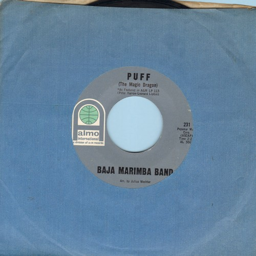 Baja Marimba Band - Puff (The Magic Dragon)/How Much Is That Doggie In The Window - EX8/ - 45 rpm Records