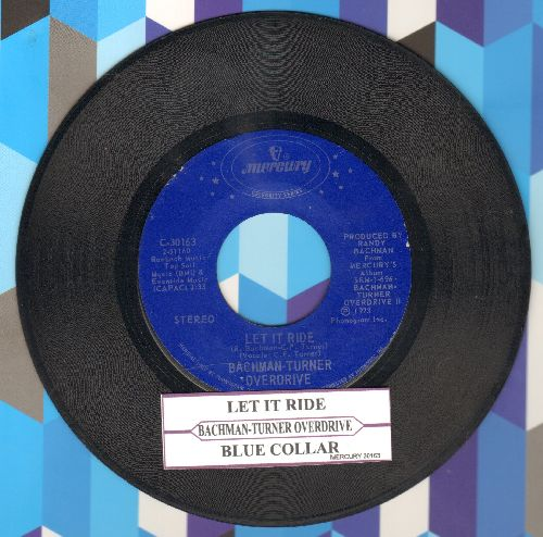 Bachman-Turner Overdrive - Let It Ride/Blue Collar (double-hit re-issue with juke box label) - EX8/ - 45 rpm Records