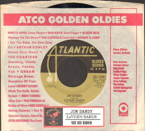 Baker, LaVern - Jim Dandy Got Married/See See Rider (re-issue with company sleeve and juke box label) - EX8/ - 45 rpm Records
