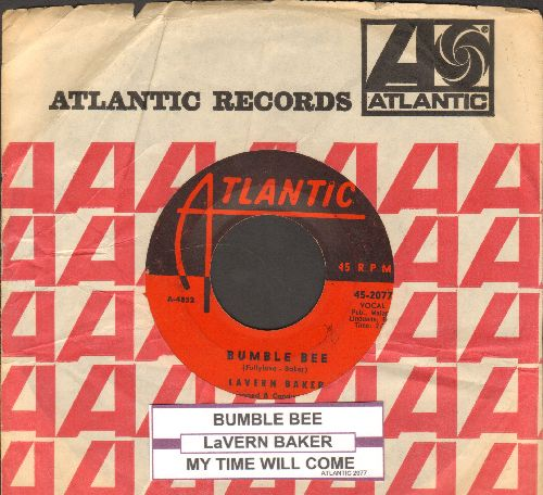 Baker, LaVern - Bumble Bee/My Time Will Come (with juke box label and Atlantic company sleeve) - VG7/ - 45 rpm Records